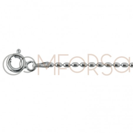Sterling silver 925ml olive chain 2 x 1.5 mm