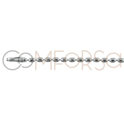 Cadena olivina 2 x 1.5mmm plata 925ml