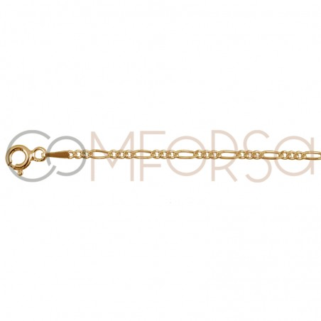 3 x 1 Chain1.7 mm sterling silver gold plated