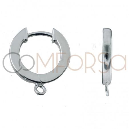 Sterling silver 925 hoop earring with jumpring 11 mm