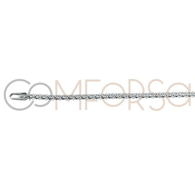 Rhodium plated sterling silver corean chain 1.9 mm