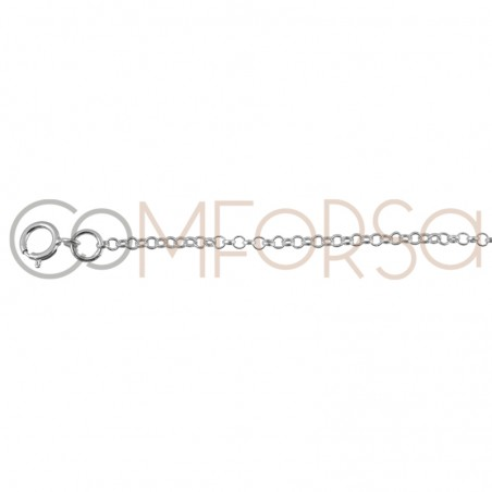 Gold Plated Sterling Silver 925 Chain 40 cm with extender 6 cm