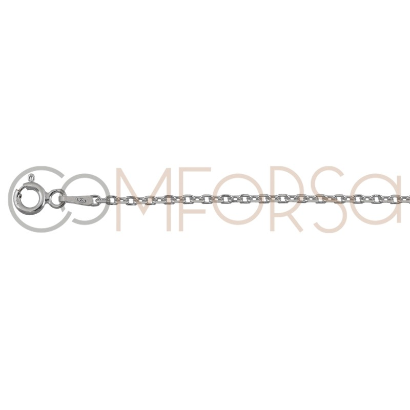 Sterling silver 925 forçat chain 2.2 x 1.8 mm