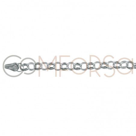 Sterling silver 925ml rolo tube chain 4 x 3 mm