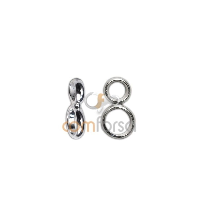 Sterling silver 925 reinforced closed double jumpring 6 + 8 mm