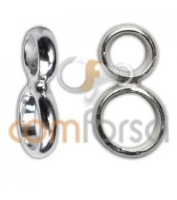 Anilla doble reforzada 6 + 8mm plata 925ml