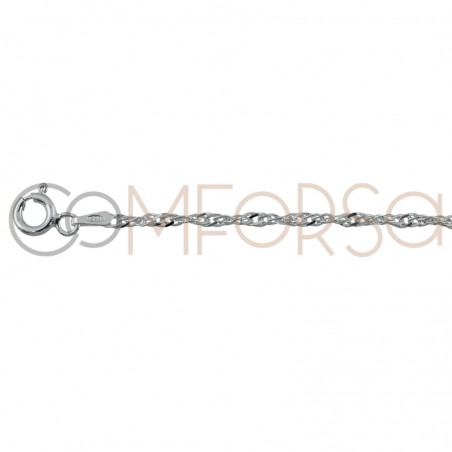 Sterling silver 925ml 2.5 mm singapore chain