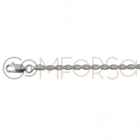 Sterling silver 925 2.5 mm rope chain