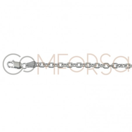 Sterling silver 925ml 5 x 3 mm forçat chain