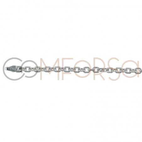 Sterling silver 925 forçat chain 5 x 3 mm