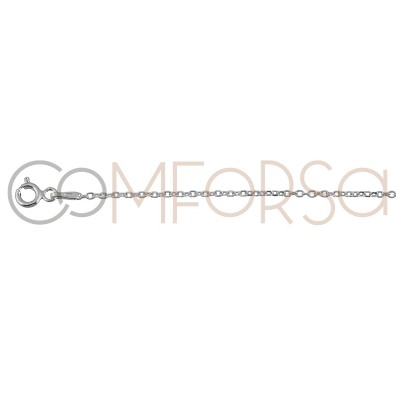 Sterling silver 925 forçat chain 1.6 x 1.5 mm