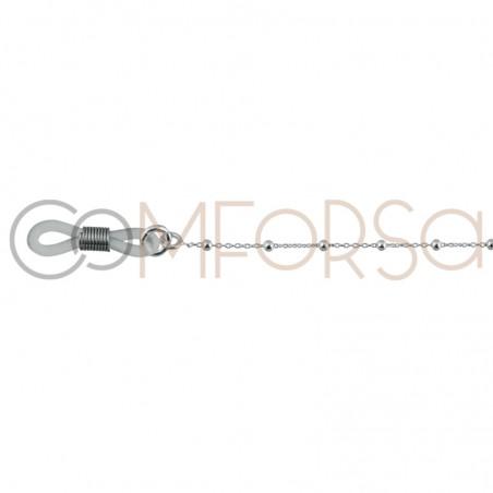 Cadena para gafas con estrella plata chapada en oro