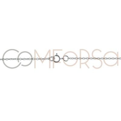 Sterling silver 925 forçat chain with central jumprings 40cm