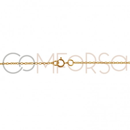 Gold plated Sterling silver 925ml forçat chain with central jump rings 40cm