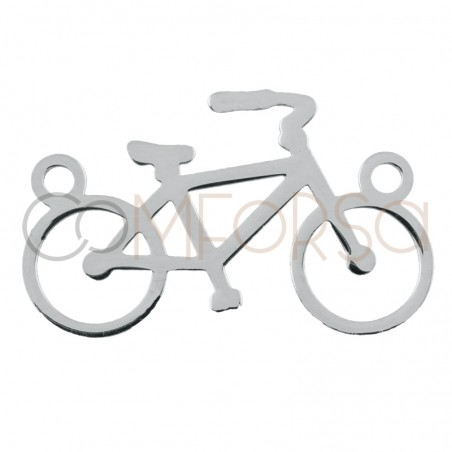 Sterling silver 925 bicycle connector 16 x 10 mm