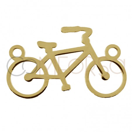 Sterling silver 925 gold-plated bicycle connector 16 x 10 mm