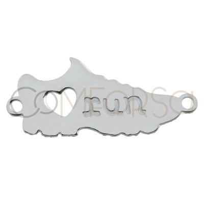 "Entrepieza deportiva ""Love Run"" 17 x 6mm plata 925"