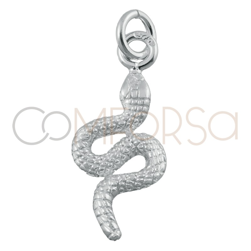 Colgante serpiente 16 x 8mm plata 925