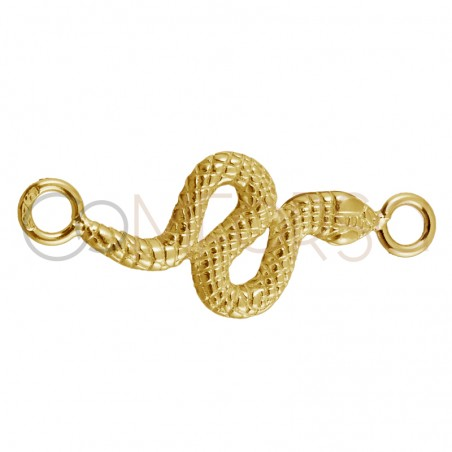 Sterling silver 925 gold-plated snake connector 16 x 8 mm
