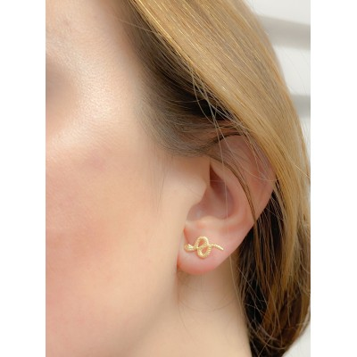 Sterling silver 925 earring 8 x 16 mm