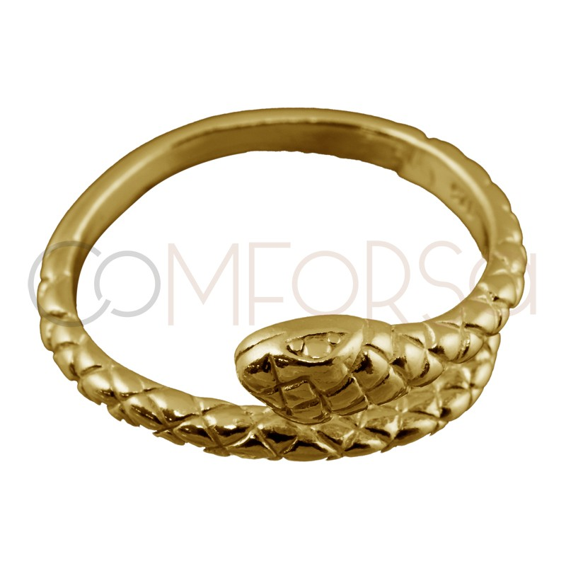 Sterling silver 925 gold-plated snake ring