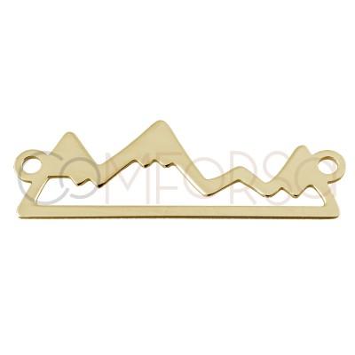Entrepieza dorada de montaña de plata de ley bañada en oro