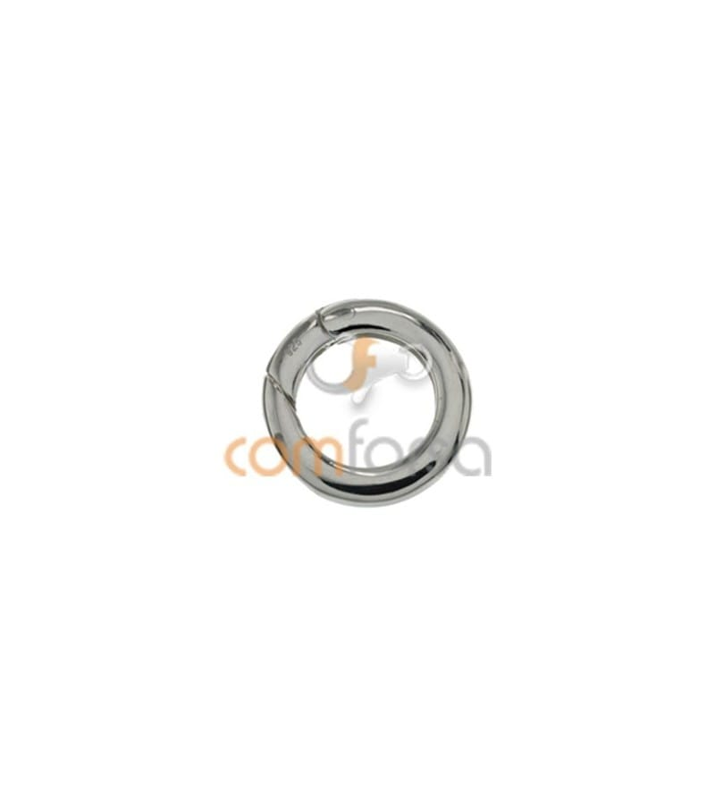 Sterling silver 925 Clasp with spring 15 mm