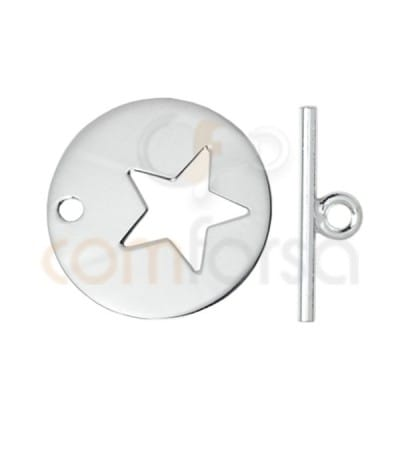 Sterling silver 925 star bar clasp 20mm