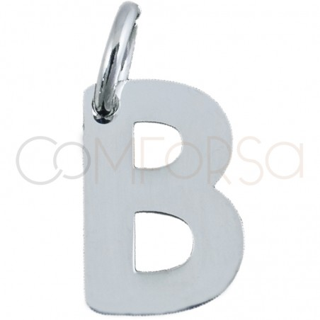 Sterling silver 925 gold-plated letter B pendant 5.2 x8mm