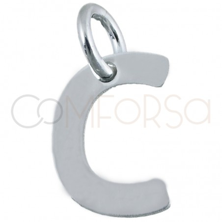 Sterling silver 925 gold-plated letter C pendant 5.6 x8mm
