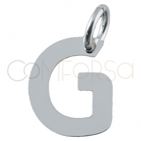 Sterling silver 925 gold-plated letter G pendant 6.4x8mm