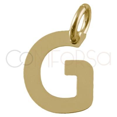 Colgante letra G de plata chapada en oro