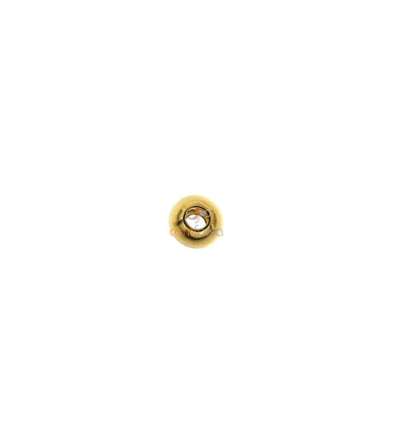 18kt Yellow gold round bead  3 mm