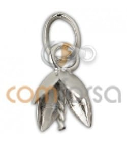 Sterling silver 925 Flower pendant cup with peg