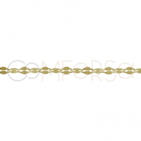 Sterling silver 925 chain with flat links 6x3mm