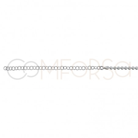 Sterling silver 925 chain flat circles 40cm
