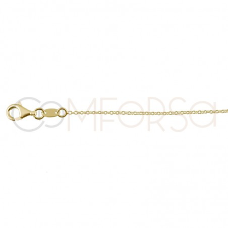 Sterling silver 925 gold-plated chain with 3 zirconias 38cm
