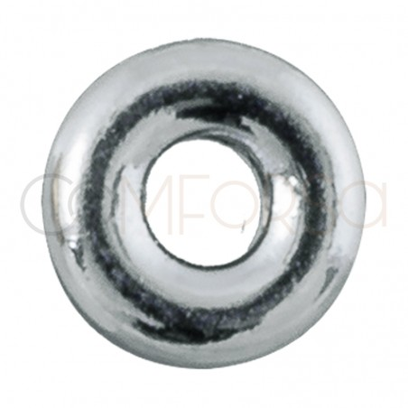 Donut 4 mm (1.5) Rhodium plated silver