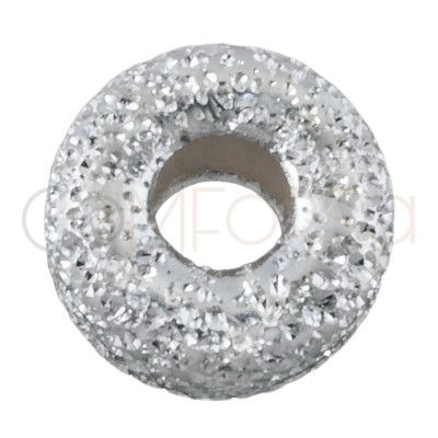 Donut diamantado 5mm plata...