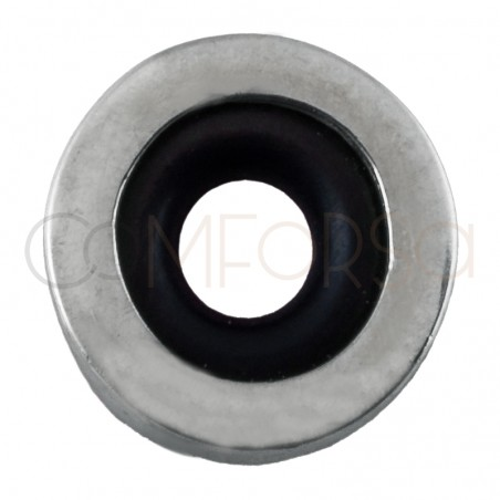 Sterling silver 925 donut spacer 8 x 3 mm (2.6 int)