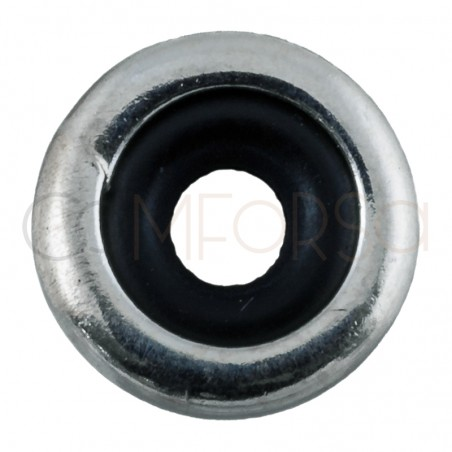 Sterling silver 925 smooth donut 8 x 2.5 mm (int)