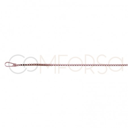 Rose Gold plated Sterling silver 925ml 1 mm venetian chain