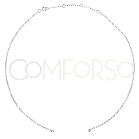 Sterling silver 925ml 35 cm rolo chain with 6cm extender