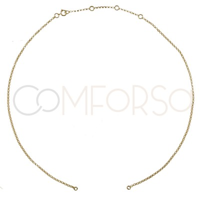 Gold plated Sterling silver 925ml 35 cm rolo chain with 6cm extender