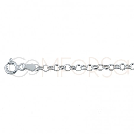 Sterling silver 925ml rolo chain  3.5 x 2.2 mm