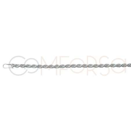 Sterling silver 925 1.7 mm rope chain