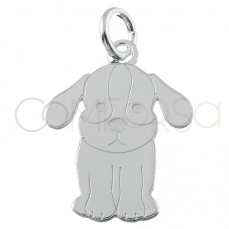 Sterling silver 925 dog pendant 12.5x16mm