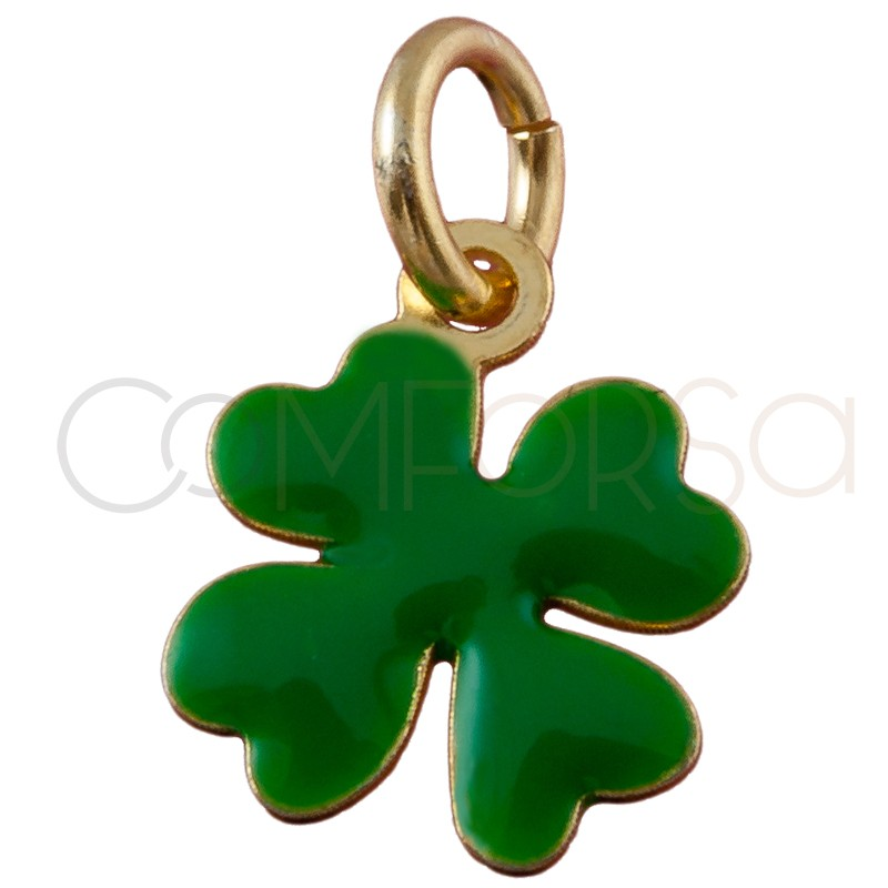 Sterling silver 925 gold-plated clover pendant 8mm