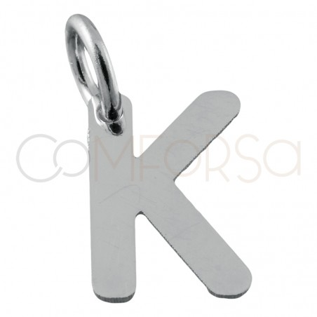 Sterling silver 925 gold-plated letter K pendant 6.5x8mm