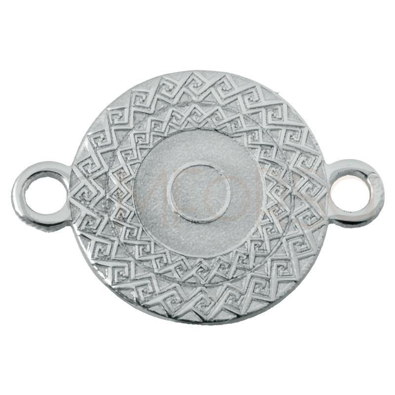 Sterling silver 925 Aztec flower connector 9.5mm